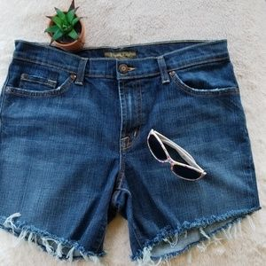 David Kahn Cut Off Denim Shorts